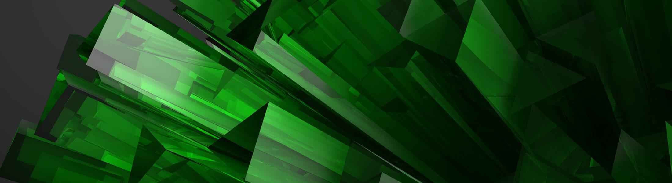Kristallform in 3D gerendert mit Details